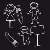 Children drawing Royalty Free Stock Photos