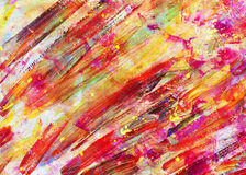 Children drawing - abstract art painting Stock Photography