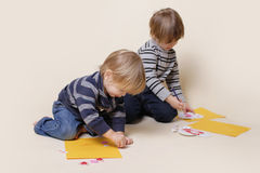 Children Drawing, Arts and Crafts Stock Photos