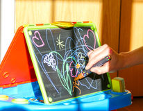 Children drawing board Royalty Free Stock Photos