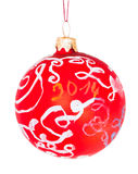 Children drawing - decorative glass red ball Stock Photos
