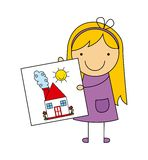 Children drawing design Stock Photography