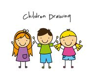 Children drawing design Stock Image