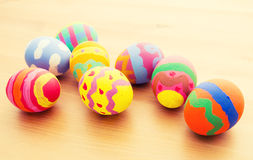 Children drawing easter egg Stock Photography