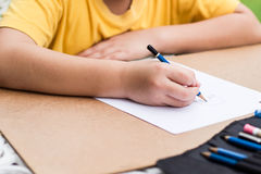 Children is drawing Stock Photo