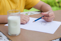 Children is drawing Stock Photography