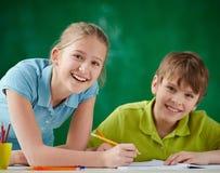Children drawing Stock Photos