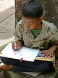 Children drawing Stock Photo