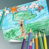 Children drawing Royalty Free Stock Photography