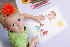 Children drawings Stock Photography