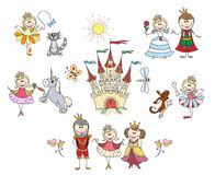 Children drawings for little girl Royalty Free Stock Images