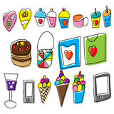 Children drawings. Children's drawings, Vector illustration, Eps 10 royalty free illustration