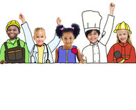 Children and Dream Job Concepts and Copy Space Stock Photography