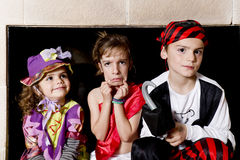 Children dressed as pirates Stock Photo