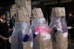 Children dressed during Carnival of Limoux Royalty Free Stock Photos