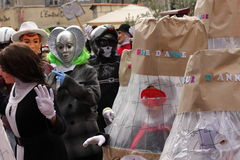 Children dressed during Carnival of Limoux Stock Photo