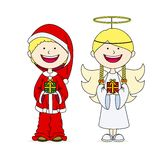 Children dressed in christmas Royalty Free Stock Photo