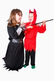 Children dressed for Halloween Royalty Free Stock Image