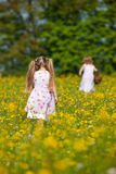 Children on Easter egg hunt Royalty Free Stock Images