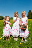 Children on an Easter egg hunt royalty free stock image
