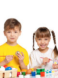 Children with Easter eggs Royalty Free Stock Images