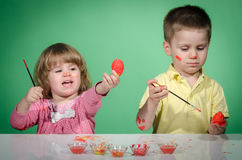 Children and Easter eggs Royalty Free Stock Photos