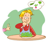 Children eat vegetables Royalty Free Stock Photography