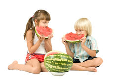 Children eating Royalty Free Stock Photos