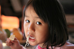 Children eating Stock Photo