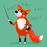Children education. Fox teacher children education school vector illustration Stock Photos