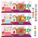 Children educational game of find ten differences. Vector funny activity.  Stock Photography