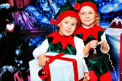 Children elves Royalty Free Stock Photo