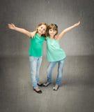 Children embracing Stock Photos