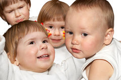 Children and emotions Stock Image