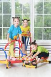 Children engaged in physical training Stock Photo