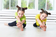 children engaged in physical training Stock Photography