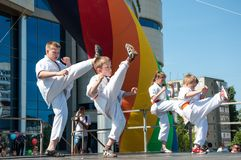 Children are engaged in Taekwondo Royalty Free Stock Photography