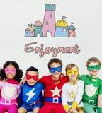 Children Enjoy Castle Joyful Concept Royalty Free Stock Photography
