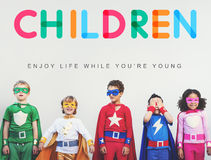 Children Enjoy Life Young Age Concept Royalty Free Stock Photos