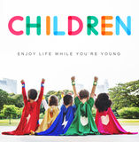 Children Enjoy Life Young Age Concept Royalty Free Stock Photography