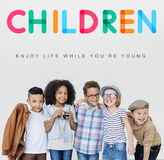 Children Enjoy Life Young Age Concept Stock Photo