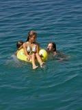 Children enjoy in summer holidays Stock Image
