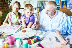 Free Children Enjoying Art Class Royalty Free Stock Photography - 116538397