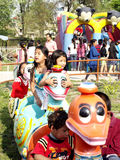 Children enjoying in Fun Park Stock Photo