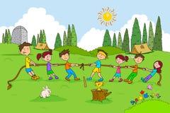 Children enjoying summer camp activities Stock Photos