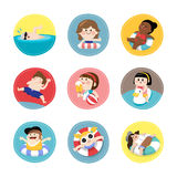 Children enjoying summer vacation Stock Photography