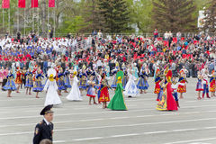 Children entertainment in honor of annual Victory Day Royalty Free Stock Image