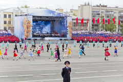 Children entertainment in honor of annual Victory Day Royalty Free Stock Photography