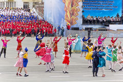 Children entertainment in honor of annual Victory Day Stock Image