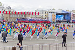 Children entertainment in honor of annual Victory Day Royalty Free Stock Photo
